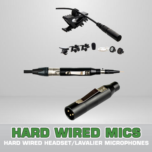 Hard Wired Headset/Lavalier (48V)